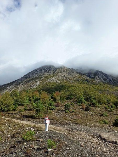 Здесь начинается тропа на вершину Румии