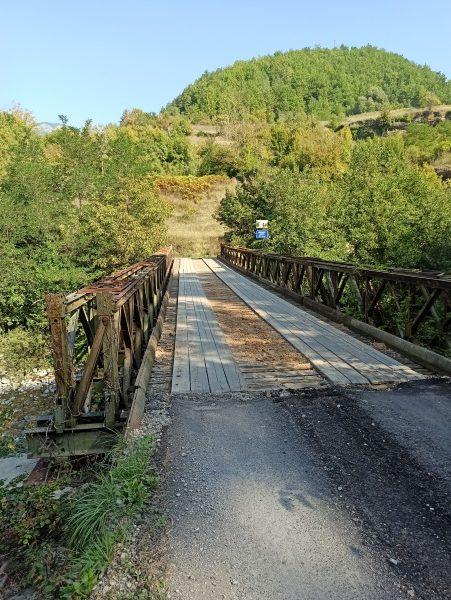 Деревянный мост через Морачу