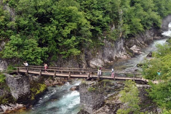Деревянный мост через Мртвицу